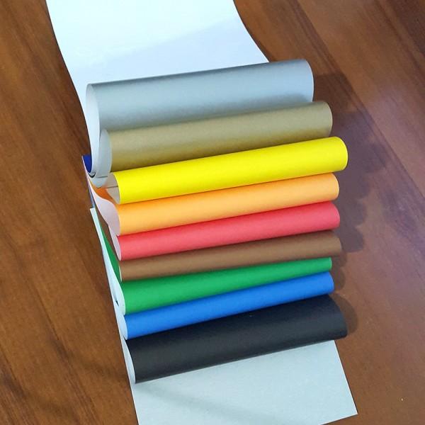 Гланцово блокче 10 цвята цветни листи за апликация 23x16cm