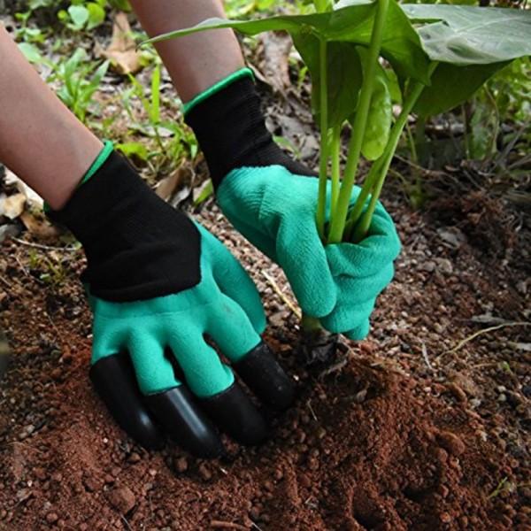 Работни градински ръкавици с нокти за копаене садене