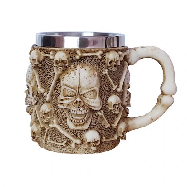 3D чаша черепи халба за бира с черепи и кости 400ml