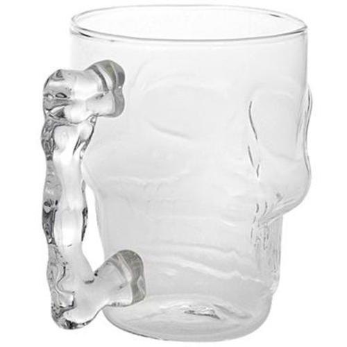 Стъклена халба за бира Череп нестандартна чаша за подарък 500мл