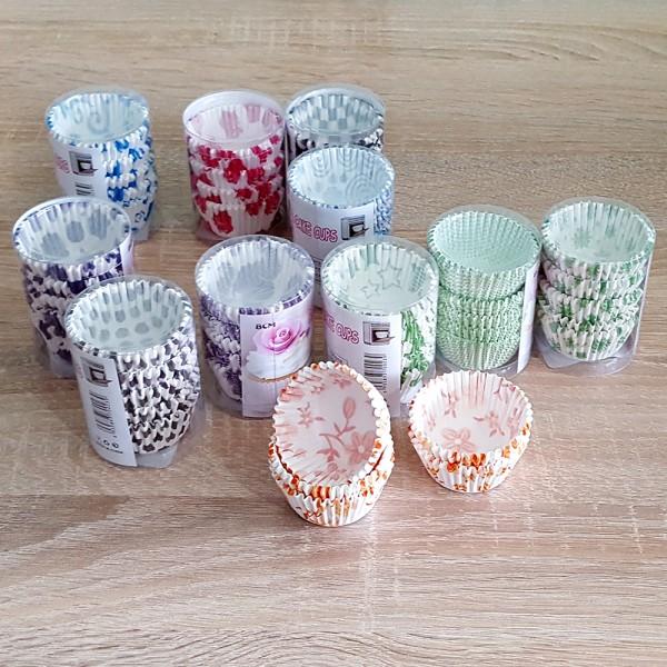 Хартиени форми за мъфини чашки за мини мъфини 100 броя в комплект