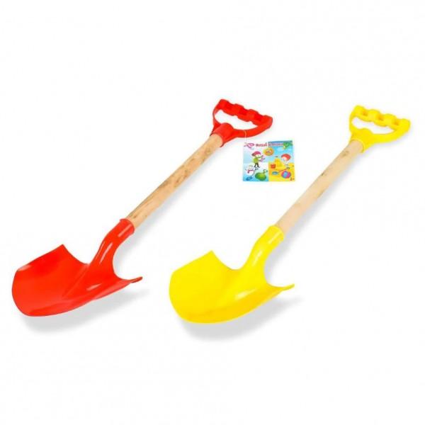 Голяма лопатка за пясък с дървена дръжка 56см плажна играчка