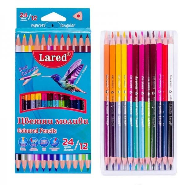 Триъгълни цветни моливи за рисуване ДУО 12/24 цвята