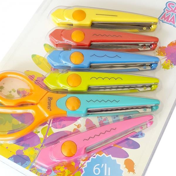 Къдрава ножичка за декорация с 6 сменяеми приставки