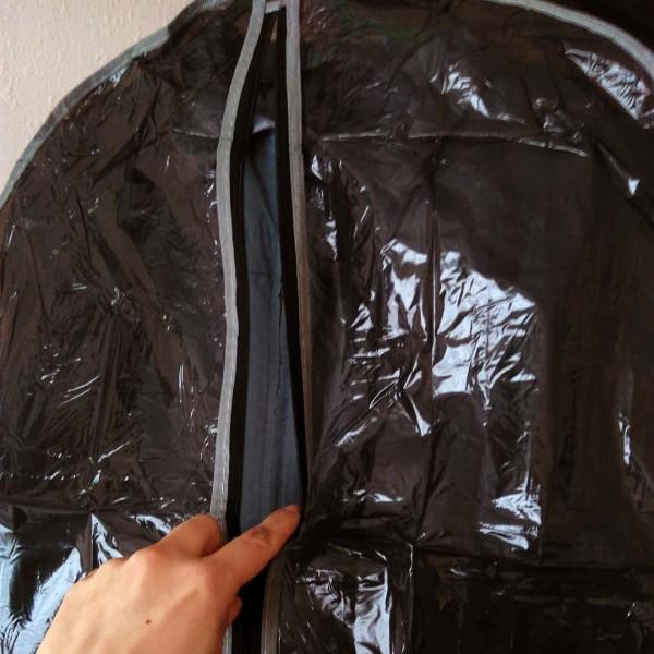 Прозрачен калъф за дрехи с цип торба за костюм рокли ризи сака
