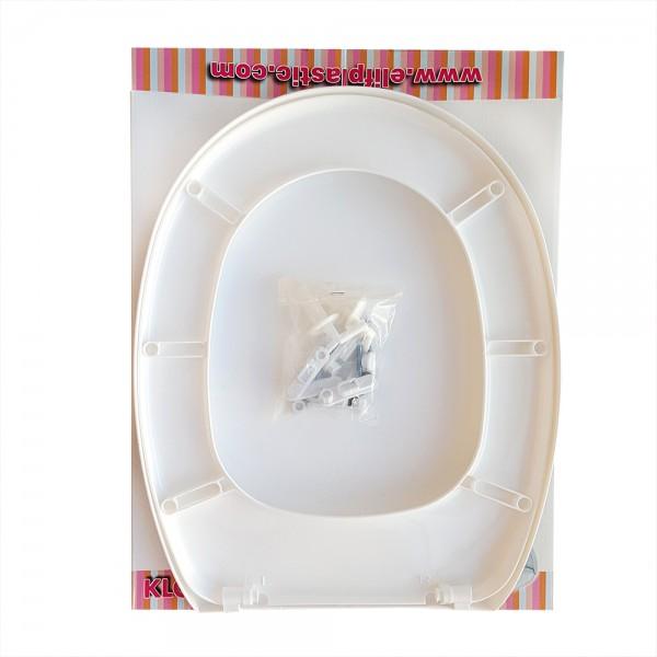 Пластмасов WC капак и седалка за тоалетна чиния с принт на гърба