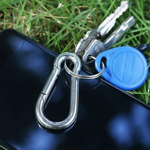 Ключодържател карабинер за окачване 6см карабинерче за бърза връзка кука закопчалка