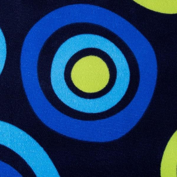 Плажна кърпа сини кръгове хавлия за плаж 70x140cm