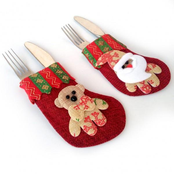 Коледна декорация за прибори облекло украса за маса