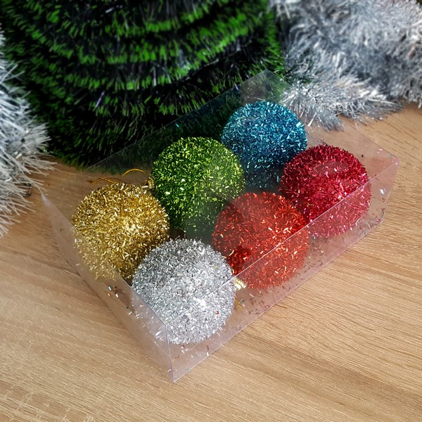 Комплект блестящи коледни топки за елха коледни играчки за украса