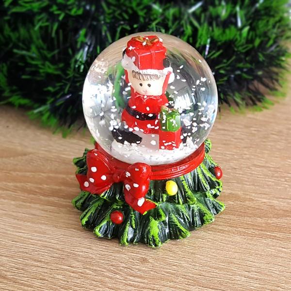 Коледно преспапие елхичка с Дядо Коледа 7см