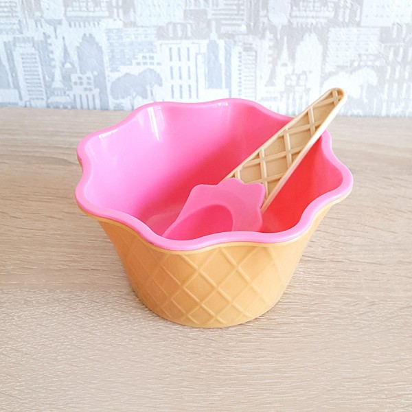 Комплект купичка и лъжичка за сладолед