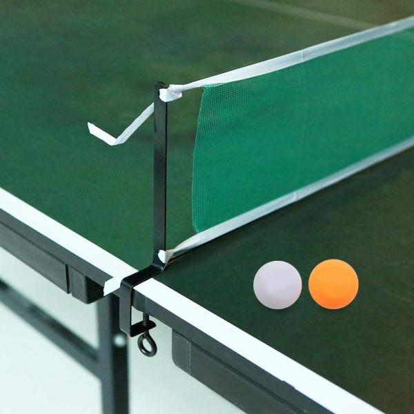 Комплект хилки за тенис на маса с мрежа стойка и 3 топчета