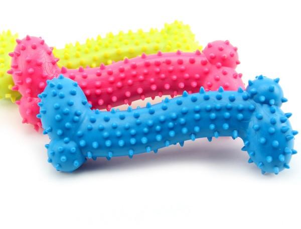 Играчка за куче релефен гумен кокал за дъвчене гризане