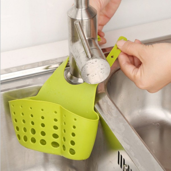 Силиконов органайзер за мивка кухненска поставка за гъбички и телчета