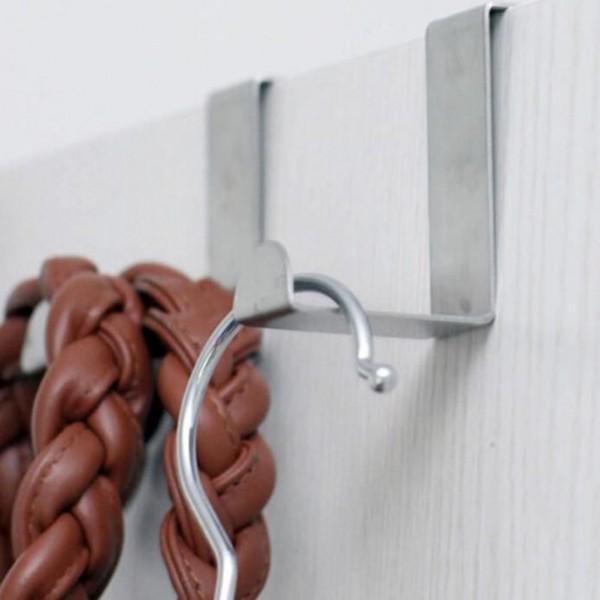 Комплект от 2 броя метални закачалки за кухненски шкаф или врата