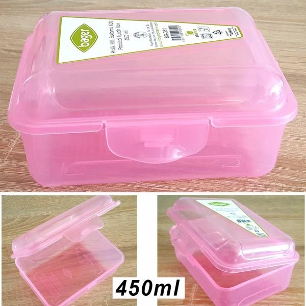 Малка пластмасова кутия за храна прозрачна BPA FREE 450ml