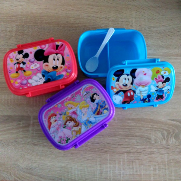 Детска кутия за обяд с лъжичка Disney кутия за храна с 2 отделения