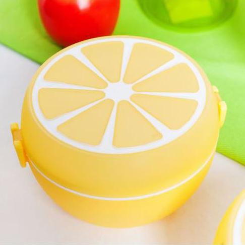 Детска кутия за обяд с отделения и прибори Кутия за храна с форма на портокал