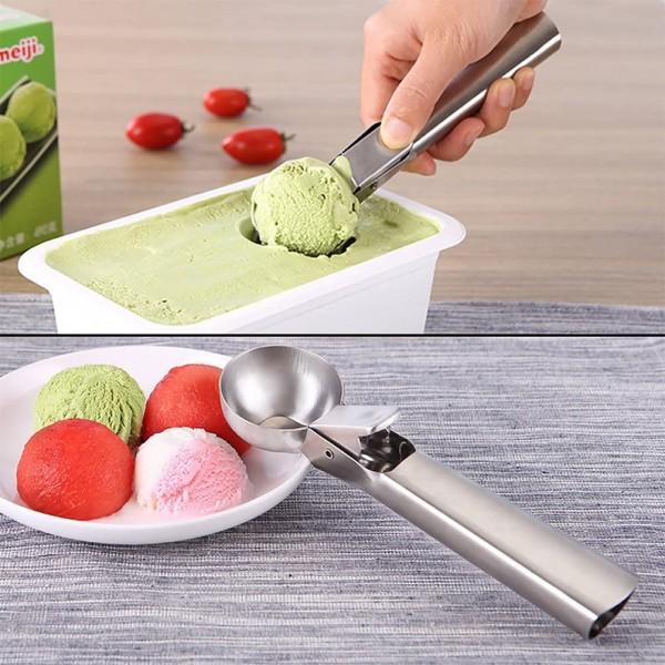 Метална лъжица за сладолед с механизъм