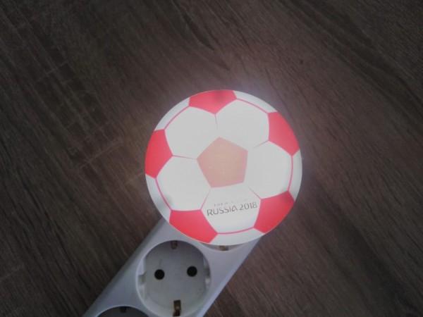 Детска нощна лампа за контакт Футболна топка лед лампа за стена 1W