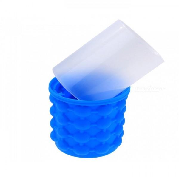 Силиконова ледарка форма за лед съд за охлаждане с капак