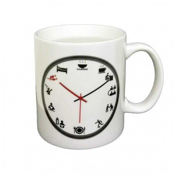 Бяла магическа чаша със забавен часовник закачка оригинален подарък за нея