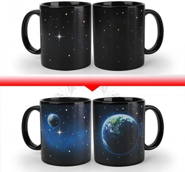 Магическа чаша Земя и Луна с променяща картинка