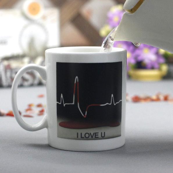 Магическа чаша Пулс Подаръчна чаша с надпис I love you и сърце