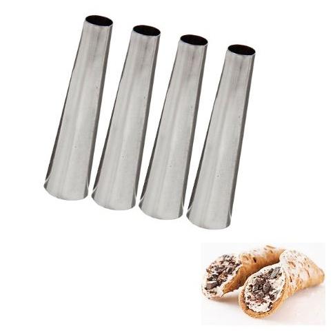 Метални фунийки за мини кроасани и каноли 4 броя в комплект