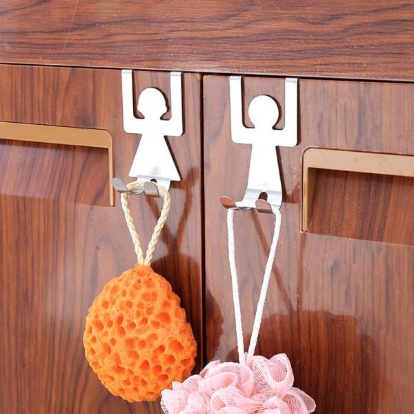 Комплект двойни закачалки за кухненски шкаф човечета момиче и момче