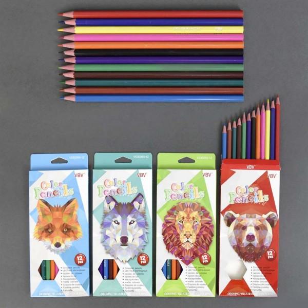 Цветни моливи за оцветяване и рисуване 12 цвята