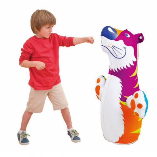 Детска надуваема боксова круша с основа Тигър и Делфин 98x44см