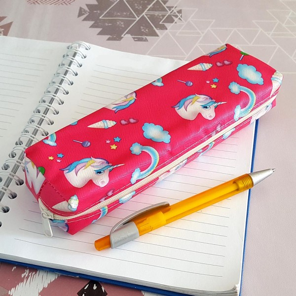 Несесер за училище за момичета Еднорог ученически несесер за моливи