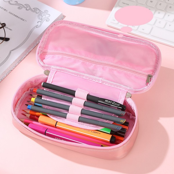 Ученически несесер за моливи с течност и брокатени частици Коте русалка