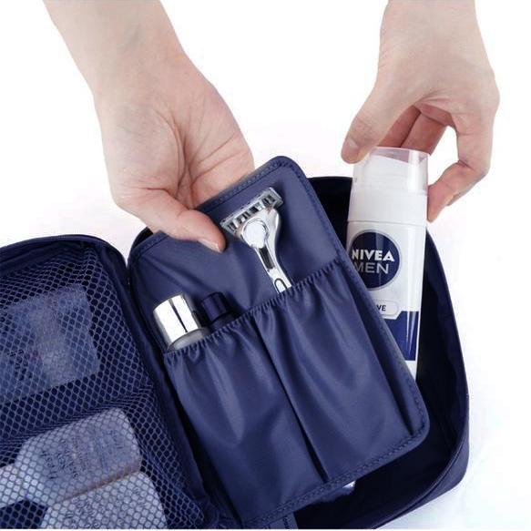Пътна чанта за козметика несесер за гримове органайзер