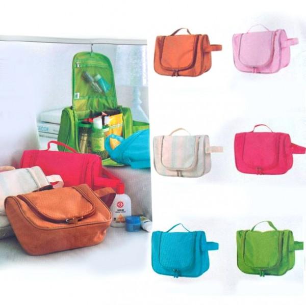 Козметична чанта за пътуване висящ органайзер несесер за тоалетни принадлежности