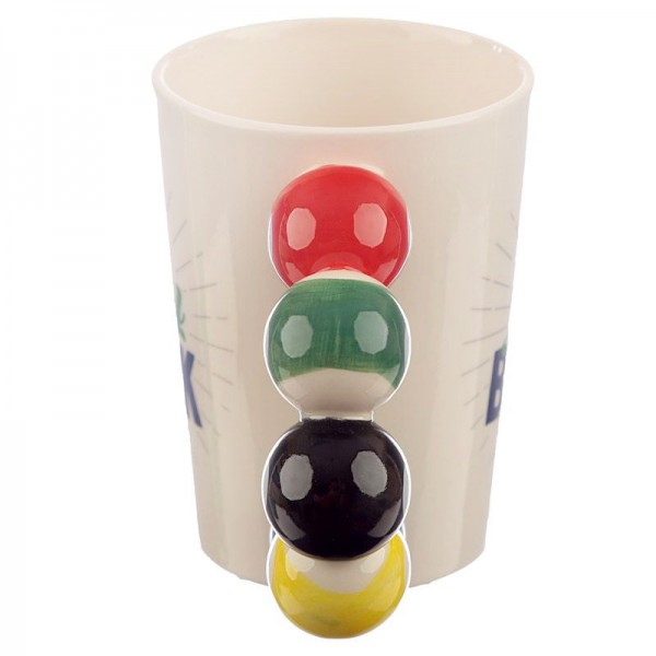 Керамична чаша билярд 350ml