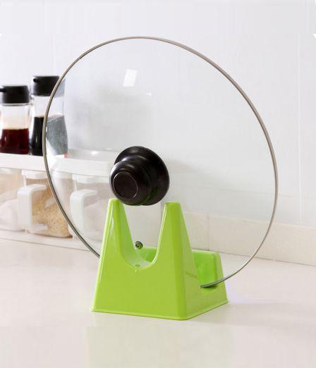Кухненска поставка за капак и лъжица подложка за дъска за рязане