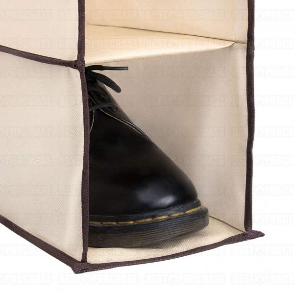 Висящ органайзер за обувки разпределител за гардероб с 10 рафта