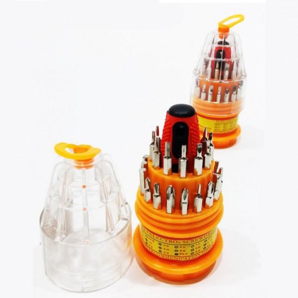 31в1 Отвертка с 30 накрайника за ремонт на телефони таблети часовници