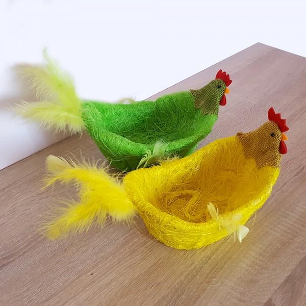 Великденски панер кокошка кошничка панер за великденски яйца декорация