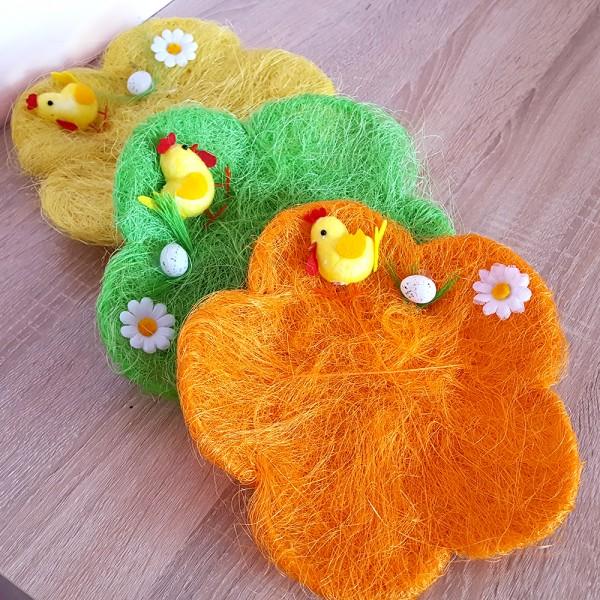 Панер за великденски яйца и лакомства с форма на цвете 25см