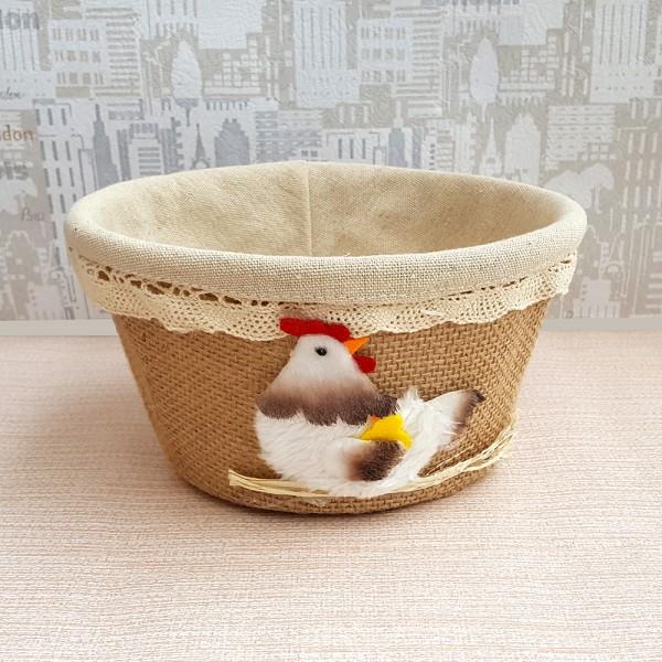 Панер за великденски яйца с декорация кокошка 18см