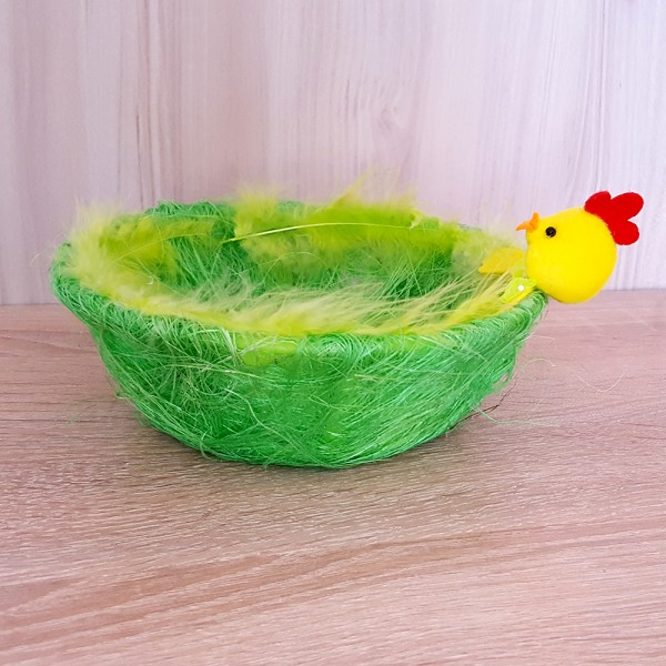Панер за великденски яйца с пиленце 17см декорация украса за Великден