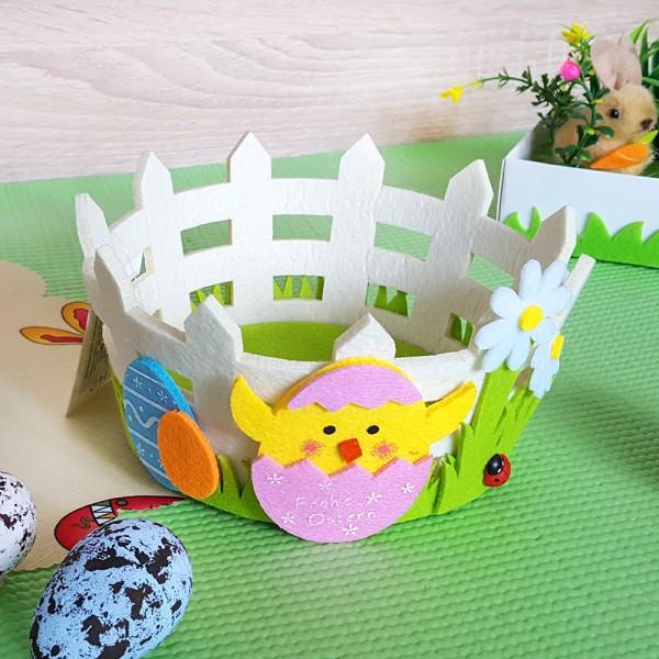 Малък панер за великденски яйца и лакомства Декорация за Великден