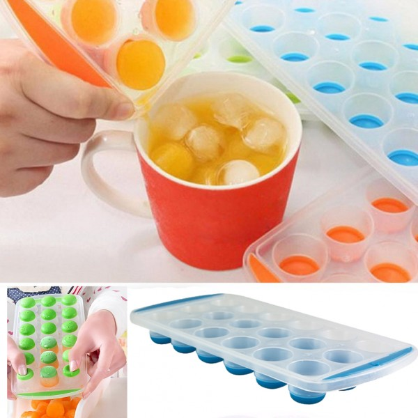 Пластмасова форма за лед със силиконово дъно ледени кръгчета