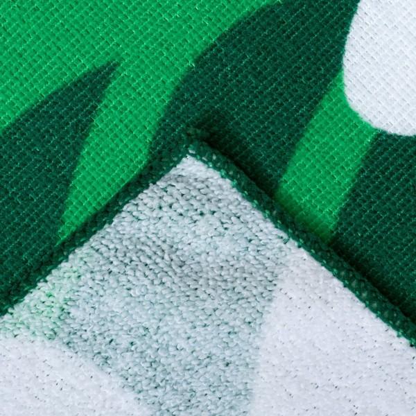 Плажна кърпа зелена на цветя хавлия за плаж 70x140cm