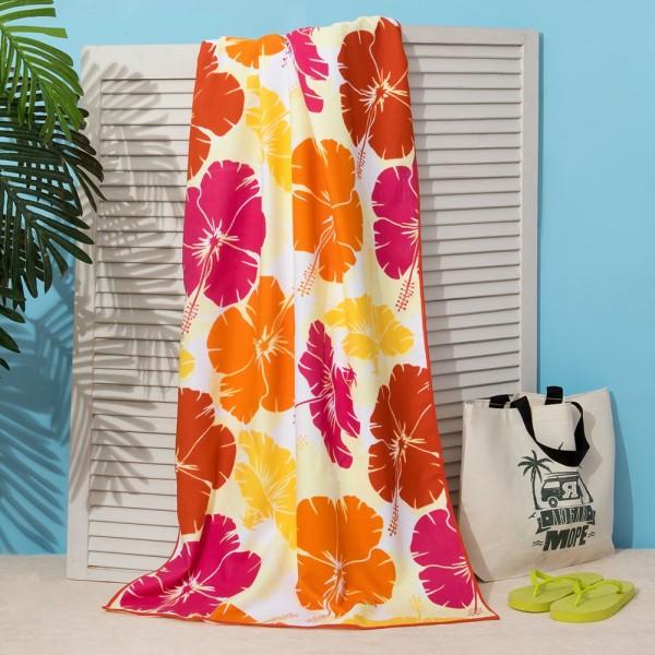 Плажна кърпа Цветя хавлия за плаж 70x140cm