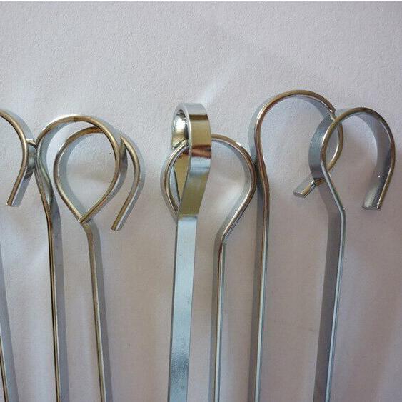 Метални плоски шишове за скара комплект от 10 броя, 38см